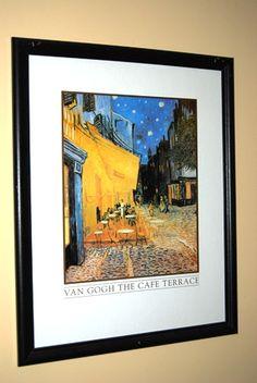 Framed Van Gogh Cafe Terrace Prints in Lewis' Garage Sale in Fayetteville , GA for $35.00.
