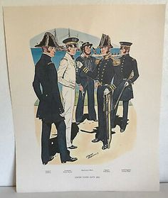 US Navy H Charles McBarron Captain Full Service Dress Reproduction Poster Print Us Navy, Cool Items, Poster Prints, Dress, Dresses, The Dress, Gowns