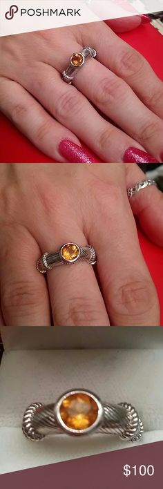Judith Ripka 1cts Citrine 925 Sterling Silver Ring Flash Sale! $85 Beautiful Judith Ripka Natural Mined 1cts Citrine 925 sterling silver ring, size 7 excellent condition. Estate piece like new Judith Ripka Jewelry Rings