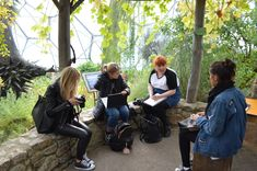 gathering research on a trip to the Eden Project