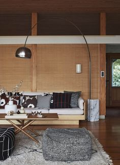 This is the latest work of talented stylist Susanna Vento for the upcoming fall catalog of Finnish design brand Marimekko. The pictures are shot in a a home with a lot of wood, which is matched with props in very … Continue reading → Home And Living, Decor, Home, Interior, Marimekko, Lamps Living Room, Home Collections, Beautiful Living Rooms, Home Decor