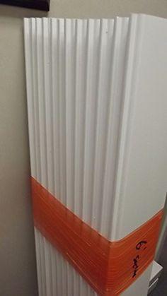 "6 PCS White PVC Vinyl Fence Dogear Picket Caps 7//8/"" x 3/"" Dog ears Tops"