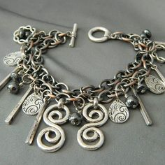 Chunky Funky Metal Madness Bracelet by WireNWhimsy on Etsy, $28.00