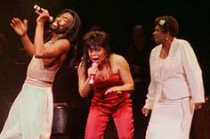 Maya Angelou performs with Valerie Simpson and Nick Ashford at New York's Paramount Theater on Feb. 14, 1996. AP Photo/Risasi Dais