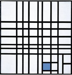 """2headedsnake: gallery.ca Piet Mondrian -Composition No. 12 with Blue. 1936-1942. oil on canvas, 62 x 60.3 cm """