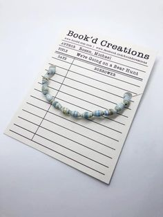 Your place to buy and sell all things handmade Michael Rosen, Literary Gifts, Paper Beads, Bibliophile, Bracelet Making, Book Lovers, Turquoise Necklace, Beaded Bracelets, Buy And Sell