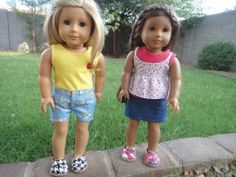 Duct Tape Toms-like shoes for American Girl Dolls | Sew Adollable