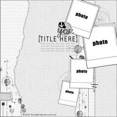 Scrapbook layout - 4 photos