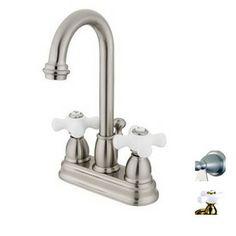 Elements of Design Chicago Satin Nickel 2-Handle Bathroom Sink Faucet (Drain Included)
