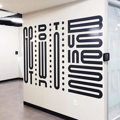 Let's get down to business Custom type by Mast (@studiomastco) More — http://www.studiomast.co/ #typography #mural #FFF
