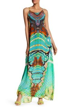 Embellished Racerback Maxi Dress