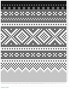 Norwegian Marius pattern, wondering if I can crochet something with this. Baby Hats Knitting, Fair Isle Knitting, Knitting Charts, Knitting Stitches, Knitting Designs, Knitting Projects, Weaving Patterns, Cross Stitch Patterns, Knitting Patterns