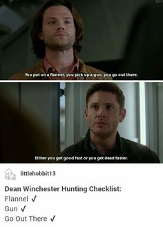 Dean winchester hunting list Gun Flannel Kick ass 12x16 Ladies Drink Free