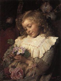 """""""L'onomastico della mamma,"""" 1895 -- by Gaetano Chierici (Italian, 1838–1920)"""