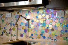 Love this backsplash...wish I knew what that was. Very cool!