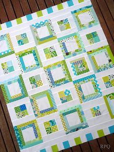 pretty strip quilt idea...love the color scheme
