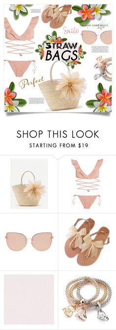 """""""Nature!"""" by jessicad110916 ❤ liked on Polyvore featuring WithChic, Zimmermann, Topshop, nature, flowerpower, strawbags and beachlook"""
