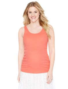 Motherhood Maternity Scoop Neck Rib Knit Maternity Tank Top
