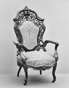 Side Chair  Joseph Meeks and Sons  (1829–1835)  Date: 1859 Geography: Mid-Atlantic, New York City, New York, United States Culture: American Medium: Rosewood