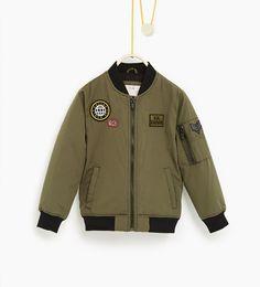 ZARA - KIDS - Patch bomber jacket