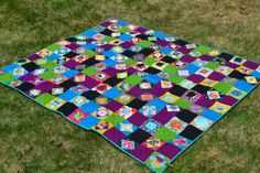 see mary quilt: Friday Finish: Economy Block Quilt