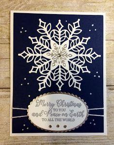 Kards by Kadie: Merry Christmas Snowflake Card Diy Christmas Snowflakes, Snowflake Craft, Snowflake Decorations, Christmas Diy, Merry Christmas, Christmas Cards 2018, Christmas Greeting Cards, Holiday Cards, Christmas 2019