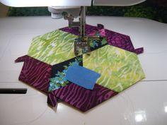 Machine stitching the New Hexagon Millefiore quilt, tutorial part one: