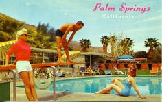 Vintage postcard from Palm Springs
