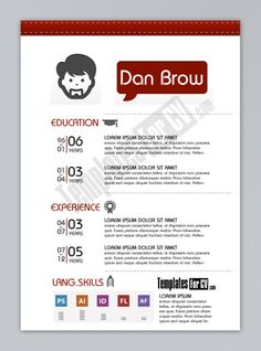 Resume Template  Free Ai By GeorgianSorin Maxim Via Behance