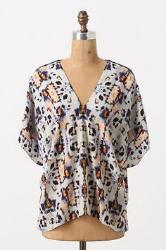 Divided Fritillary Blouse - Anthropologie.com