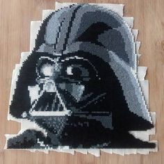Darth Vader - Star Wars Hama beads  by clockworkdragonfly