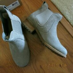 Ugg Australia ankle boots. size 7 New in box. In perfect new condition. Authentic Ugg Australia. Grey suede outside. Fully lined with fur inside. Has hologram attached to the label and shoe box. True to size 7. Genuine rubber sole. Will never slide on icy sidewalk. 1.5 inch heels. No trade. Price firm. Add to bundle and get 15 % discount automatically. UGG Shoes