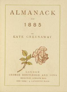 Kate Greenaway's Almanack for 1885