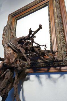 Petra Antique Oak & Gesso Frame with Grafted par FusionFramesNW
