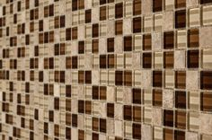 "Mosaic Tile - Tribal Series - Zulu Light Brown Multi / 0.9""x0.9"""