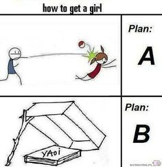 This would work how to get a girl .anime yaoi and Pokemon Anime Meme, Manga Anime, Funny Images, Funny Pictures, Guilty Crown, Otaku Problems, Boyxboy, How To Get, How To Plan