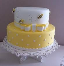 37 Ideas Baby Shower Cookies White Birthday Parties For 2019 Bee Cakes, Fondant Cakes, Cupcake Cakes, Bee Birthday Cake, Bumble Bee Birthday, Birthday Parties, Bumble Bee Cake, Baby Shower Cookies, Pretty Cakes