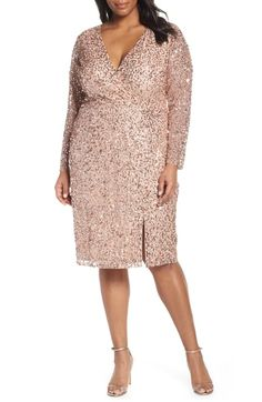 a62033e2 Adrianna Papell Beaded Mesh Cocktail Dress Plus Size Party Dresses, Plus  Size Cocktail Dresses,