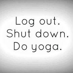 Take a #yoga break