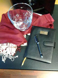 Jean Sibelius™ Diary or Notebook, genuine leather with ballpen Ballpen, Notebook, Leather, Exercise Book, The Notebook