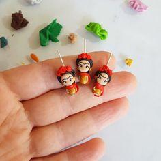 Frida inspired charm red flower frida inpired jewelry