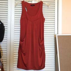 Dark orange party dress Dark orange dress. With pockets. Forever 21 Dresses Mini