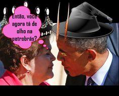 Dilma e Barack discutindo sobre Petróleo