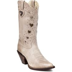 crush by durango womens light taupe leather heartfelt hearts cowboy boots