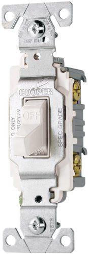 Eaton CS120W Commercial Toggle Switch Single Pole, 20 Amp