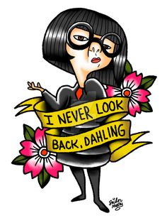 A tattoo design featuring the fashionista from the Incredibles