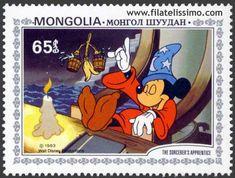 Filatelia - The sorcerer's apprentice The Sorcerer's Apprentice, Pixar, Disney Animated Films, Postage Stamp Collection, Animation Film, Walt Disney Animation, Mickey Mouse Cartoon, Disney Printables, Vintage Stamps