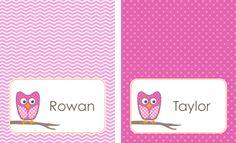 Anders Ruff Custom Designs, LLC: Free Printable: DIY Bag Tag Template – Great for Back To School!
