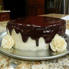 Chocolate Ganache @keyingredient #cake #chocolate