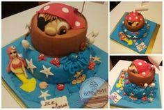 pirate and mermaid cake/korsan ve deniz kızı pasta/korsan/korsan pasta/deniz kızı
